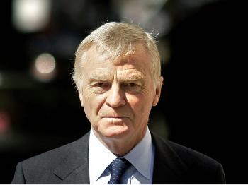 Max Mosley fought to stay in power, said he would step down, reneged, again agreed to step down, tried to renege, and then got his hand-picked successor elected. (Shaun Curry/AFP/Getty Images)