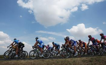 The pelaton rolls through the French countryside towards Paris during Stage Twenty-One of the 2008 Tour de France. (Jasper Juinen/Getty Images)