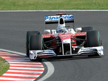 Toyota driver Jarno Trulli had an excellent qualifying session, ending up second on the grid for the Japanese F1 Grand Prix. (Toshifumi Kitamura/AFP/Getty Images)