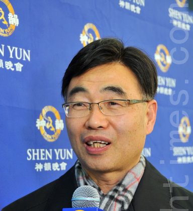 Mr. Ri Jae Rak, President of a club in the Korea Research Institute of Chemical Technology, said that Shen Yun can inspire people's confidence. (Yuzhen Li/ The Epoch Times)