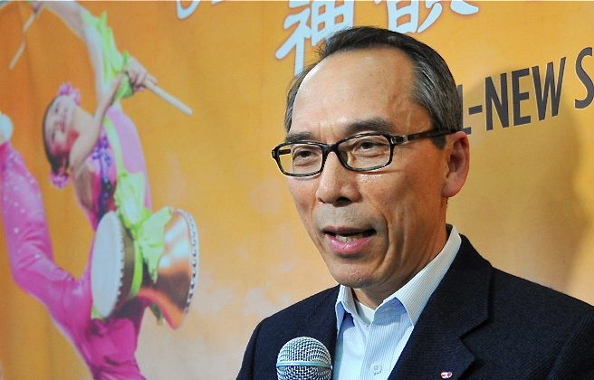 Mr. Zhongxiu Zheng, curator of the National Palace Museum of Korea, attends the last show of Shen Yun Performing Arts New York Company at Anyang Arts Center (Yuzhen Li/The Epoch Times)