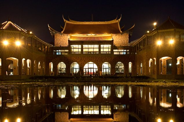 Chiayi Performing Arts Center in Chiayi County (Luo Ruixun/The Epoch Times)