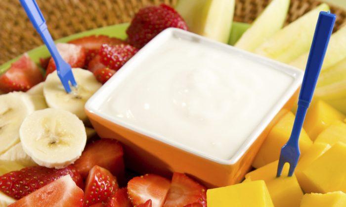 Fruit Salad with dip. (Photos.com)