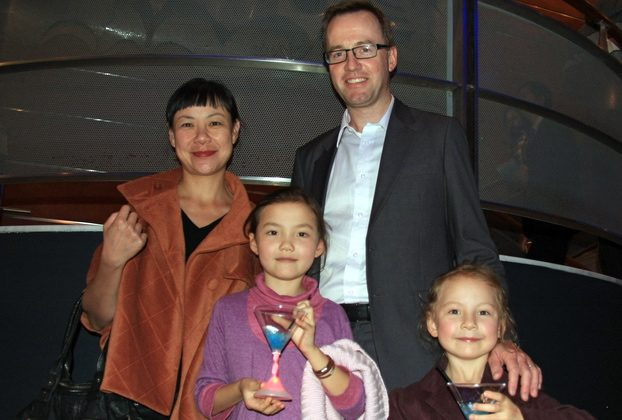 David Shoebridge MLC and his family enjoy Friday evening attending Shen Yun Performing Arts in the Capitol Theatre. (The Epoch Times)