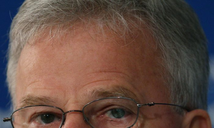 Buddy Roemer speaks at the National Press Club in Washington in this file photo from Aug.15, 2011. (Mark Wilson/Getty Images)