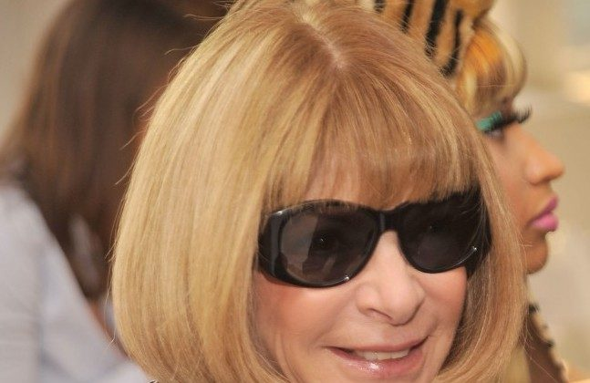 Editor-in-chief of American Vogue magazine, Anna Wintour attends the Oscar De La Renta Spring 2012 fashion show during Mercedes-Benz Fashion Week at 11 West 42nd St. on Sept. 13, 2011, in New York City. (Gary Gershoff/Getty Images)