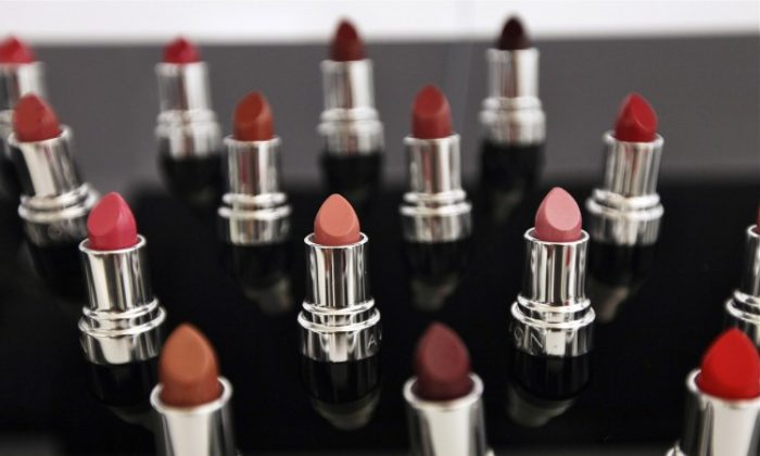 Avon lipstick products are displayed inside the U.S. headquarters for Avon Products Inc. in New York City, September 2011. On Monday, the cosmetics giant rejected a $10 billion buyout offer from smaller rival, Coty, a New York-based beauty products maker. (Mario Tama/Getty Images)