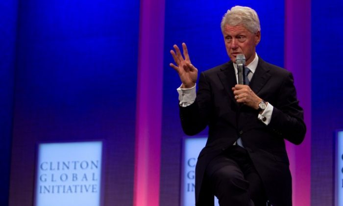 President Bill Clinton addresses the audience last year at meeting of the Clinton Global Initiative (CGI). The three-day Fifth Annual Clinton Global Initiative University (CGI U) conference concluded on Sunday in Washington, D.C. (Daniel Berehulak/Getty Images)