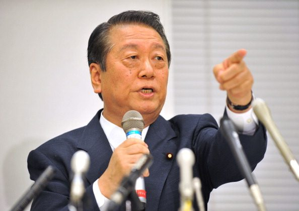 Ichiro Ozawa, ex-leader of the ruling Democratic Party of Japan, speaks during a press conference in Tokyo on October 6, 2011. (Kazuhiro Nogi/AFP/Getty Images)