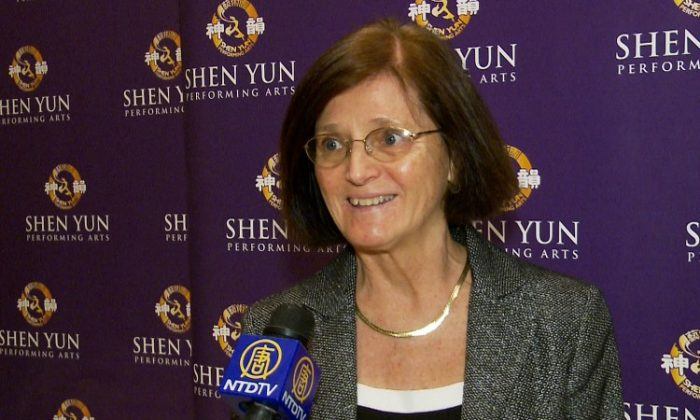 Mary Brautigam attends Shen Yun Performing Arts in New York. (Courtesy of NTD Television)