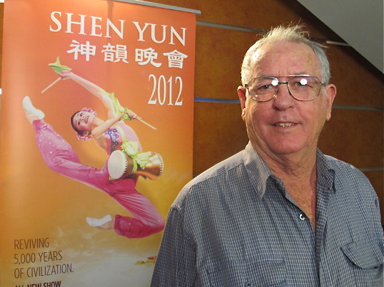 Ken Coleman came again to see Shen Yun Performing Arts at Sydney's Capitol Theatre on Sunday. (Tahnia Smith/The Epoch Times)