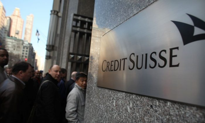 Credit Suisse headquarters on December 14, 2011 in New York City. (Spencer Platt/Getty Images)