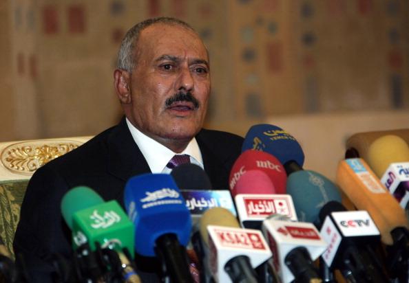 Yemeni President Ali Abdullah Saleh in December. (Mohammed Huwais/AFP/Getty Images)