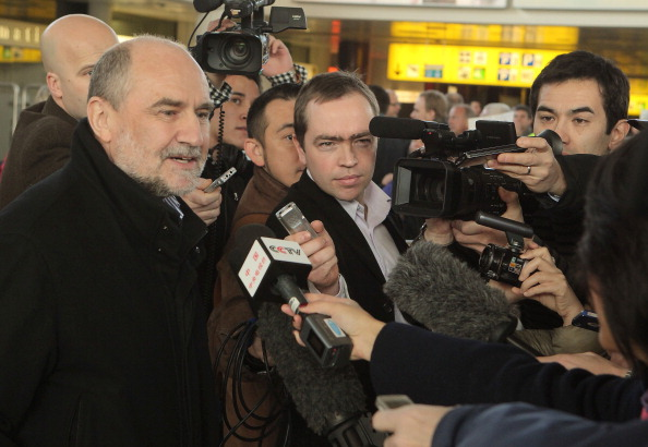 International Atomic Energy Agency (IAEA) chief UN nuclear inspector Herman Nackaerts speaks to the press on arrival at Vienna Airport from Teheran on February 1, 2012 January some 25 kilometers (15 miles) east of Vienna. (Dieter Nagl/AFP/Getty Images)