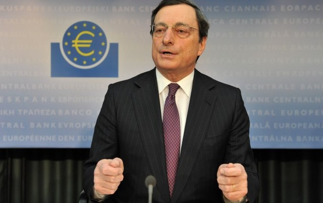 Mario Draghi, President of the European Central Bank (ECB). (Emily Wabitsch/AFP/Getty Images)