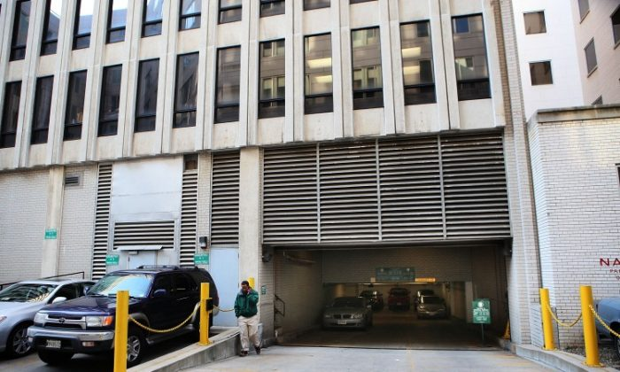 The indoor garage, just blocks away from the U.S. Capitol, where 29-year-old Amine El Khalifi was reportedly arrested is shown February 17, in Arlington, VA. (Alex Wong/Getty Images)