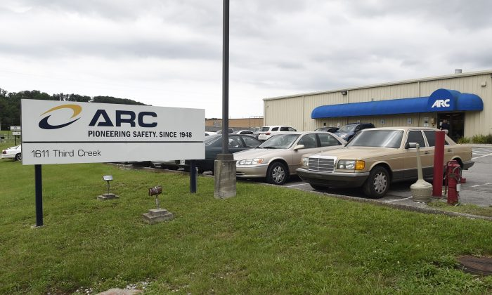 The ARC Automotive manufacturing plant in Knoxville, Tenn., on July 14, 2015.  (Adam Lau/Knoxville News Sentinel via AP)