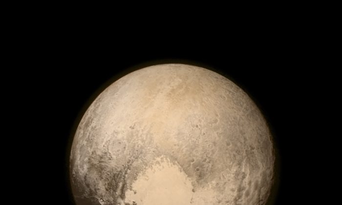 The image of Pluto taken by NASA's New Horizons spacecraft on July 13, 2015.  (NASA/APL/SwRI via Getty Images)