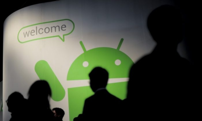 The Android stand in Barcelona on February 29, 2012. Oracle and Google are close to wrapping up the first phase of a three-phase trial over the potential use of Java in Android. (JOSEP LAGO/AFP/Getty Images)