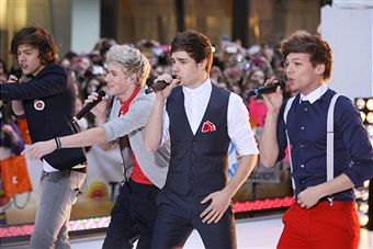 One Direction perform on NBC's 'Today' show at Rockefeller Plaza on March 12, 2012 in New York City. (Neilson Barnard/Getty Images)