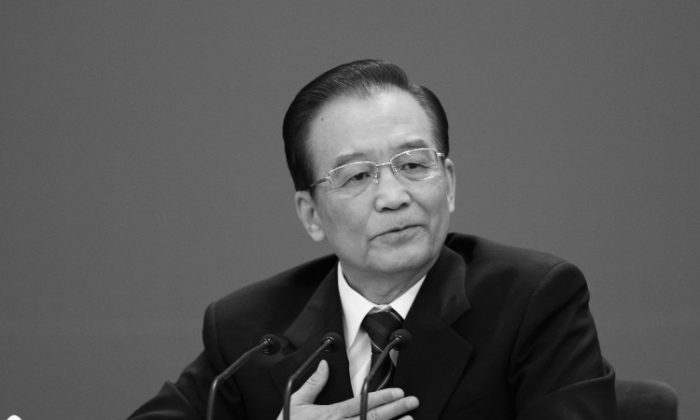 Wen Jiabao, China's premier, speaks during a news conference on March 14, in Beijing. (Feng Li/Getty Images)