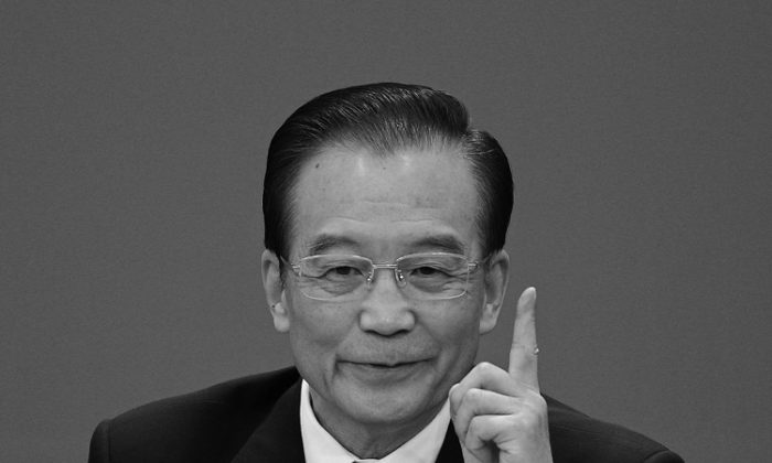 Chinese Premier Wen Jiabao speaks during a news conference following the close of China's National People's Congress (NPC) at The Great Hall Of The People on March 14 in Beijing, China. In his remarks, Wen harshly criticized Bo Xilai, who was arrested the next day. (Feng Li/Getty Images)