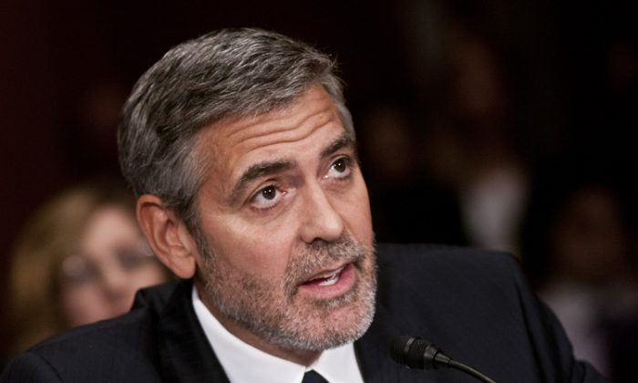 George Clooney, actor and human rights activist, testifies at the Senate Foreign Relations Sudan and South Sudan: Independence and Insecurity hearing at the Dirksen Senate Office Building on March 14 in Washington. (Kris Connor/Getty Images)