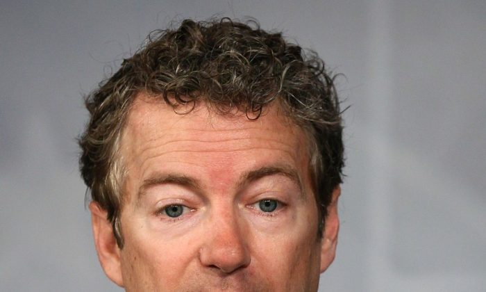 Sen. Rand Paul (R-KY) talks during a news conference on Capitol Hill March 15, in Washington. Sen. (Mark Wilson/Getty Images)