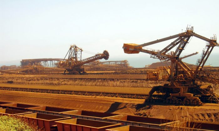 Rio Tinto's Port Dampier operations in Western Australia's Pilbara region. A mining boom in Australia is creating a skills shortage driving the Australian Government to encourage U.S. skilled workers to Australia. (Amy Coopes/AFP/Getty Images)