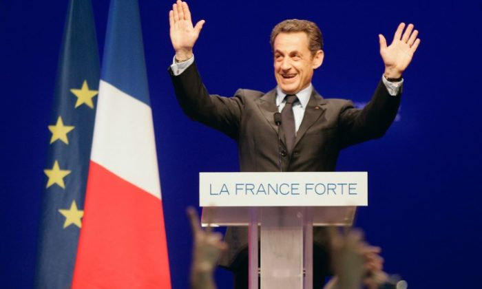 France's President Nicolas Sarkozy delivers a speech following the announcement of the estimated results of the first round of the French 2012 presidential elections at the Mutualite on April 22 in Paris, France. Investors are closely watching the elections in France as it could impact the future of the eurozone economy. (Franck Prevel/Getty Images)