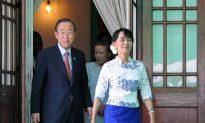 Ban Ki Moon Meets Suu Kyi in Burma