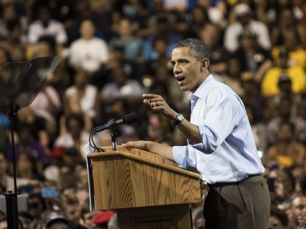 US President Barack Obama speaks during a campaign event on May 5, in Richmond, Virginia. (BRENDAN SMIALOWSKI/AFP/GettyImages)