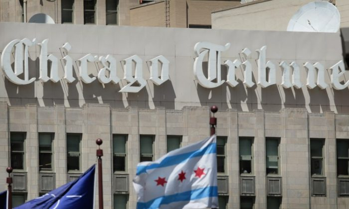 The Tribune Tower, headquarters of the Tribune Company, is seen on June 7, 2012 in Chicago, Illinois. Tribune emerged from Chapter 11 bankruptcy on Dec. 31 and plans to sell majority of its newspaper holdings. (Scott Olson/Getty Images)