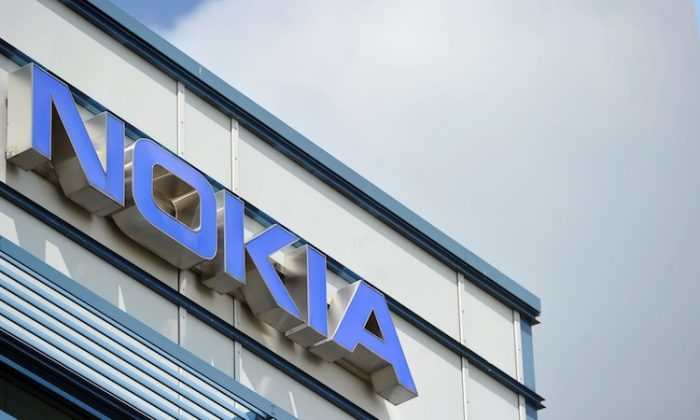 The logo of the Nokia research center in Ulm, western Germany, is pictured on June 14, 2012. (Steven Puncher//AFP/GettyImages)