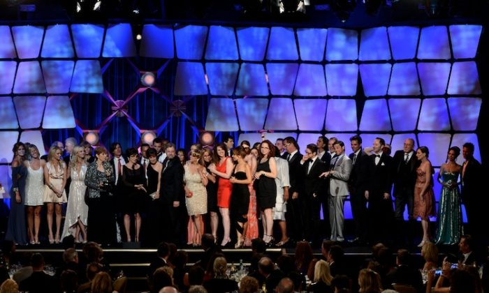 The cast and producers of General Hospital accept the award for Outstanding Drama Series onstage at the 39th Annual Daytime Entertainment Emmy Awards at the Beverly Hilton Hotel on June 23, 2012 in Beverly Hills, California. (Kevin Winter/Getty Images)