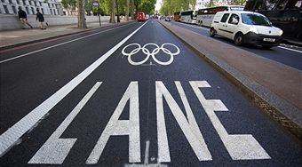 The Olympic Route Network (ORN) are dedicated lanes around London for athletes and officials to travel between competition sites. (Andrew Cowie/AFP/Getty Images)