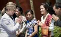 Hillary Clinton in Laos for Landmark Visit