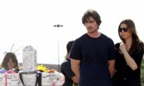 Christian Bale Visits Aurora Following 'Dark Knight' Shootings