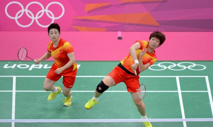 Yu Yang and Wang Xiaoli on July 28, 2012 in London, England. They faced harsh criticism from their team and Chinese media for throwing a match, but the choice was not theirs to have made.               (Michael Regan/Getty Images)