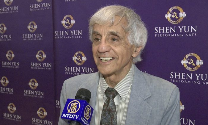 Artist Joseph Farris, an accomplished cartoonist, illustrator, painter, and author, was delighted with Shen Yun Performing Arts. (Courtesy of NTD Television)