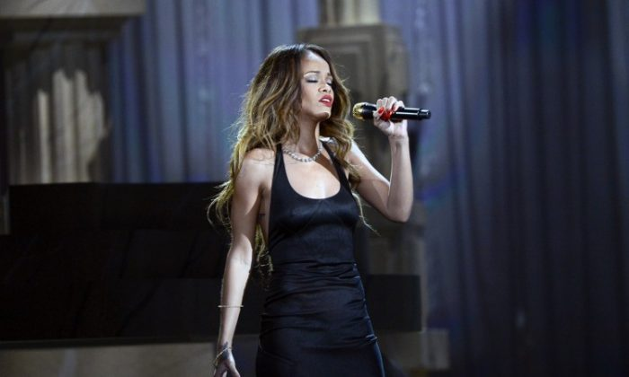 Rihanna performs onstage at the 55th Annual GRAMMY Awards at Staples Center on Feb. 10, 2013 in Los Angeles, California. (Kevork Djansezian/Getty Images)
