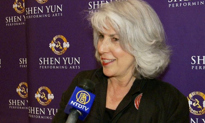 Liz Colin attends Shen Yun Performing Arts at Lincoln Center's David H. Koch Theater. (Courtesy of NTD Television)