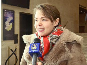 Julia Mineeva was very impressed by the way the presentation of Shen Yun Performing Arts was so balanced. (Courtesy of NTD Television)