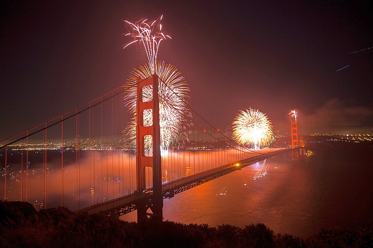 75th Golden Gate Anniversary fireworks
