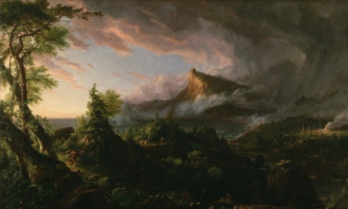 """Thomas Cole's """"The Course of Empire: The Savage State,"""" 1833-1836. The first part in a five-part series. (New York Historical Society)"""