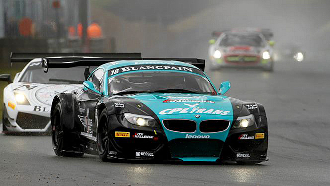 Michael Bartels and Yelmer Buurman brought their #18 Vita4One BMW Z4 GT3 home for the win in the FIA GT1 World Championship qualifying race at Zolder Saturday. (GTworld.com)