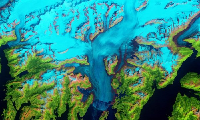 The Columbia Glacier in 2011. (Earth Observatory/NASA)