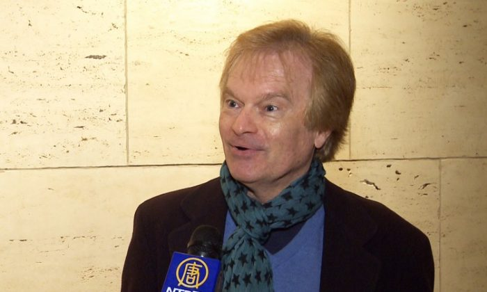 Jon Mikel Zeigler, a producer of corporate events, after attending Shen Yun on Wednesday . (Courtesy of NTD Television)