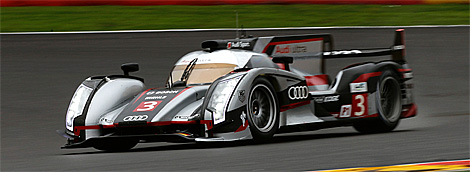 The #3 Audi R18 Ultra of Romain Dumas, Lôic Duval and Marc Gené won the Six Hours of Spa. (Audi Motorsport)