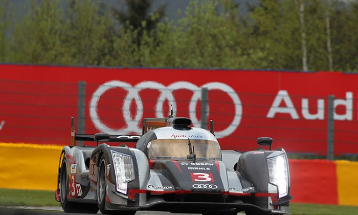 The Le Mans match-up: The Audi e-tron quattro hybrid versus the Toyota TS030 Hybrid. Diesel versus gasoline, German powerhouse versus Japanese Giant—these two will contest the overall at the Le Mans 24. (Jeff Carter/MacLean Photographic)